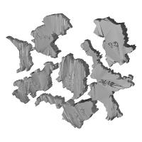奈良中心の立体地図パズル