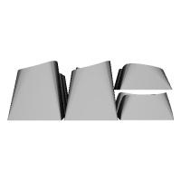 """3D"" キーキャップセット:補助セット(7列対応 / 親指4キー対応)"