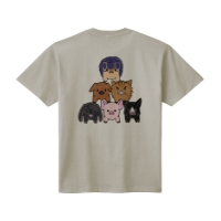 6 pigs Tシャツ L シルバーグレー