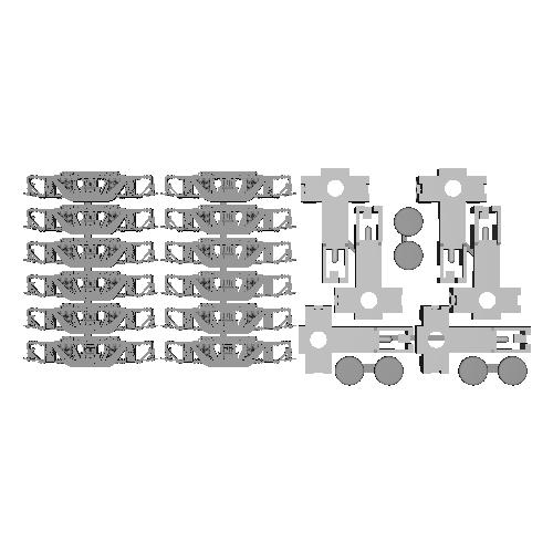 川崎ボールドウィン台車 Nゲージ用台車枠3両セット【TKK3450形ほか】