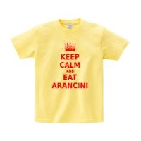 keep calm and eat aranciniシャツ (S)