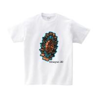 disegno 3dシャツ (ホワイト・S)