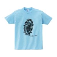 disegno 3dシャツ (ライトブルー・M)