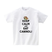 keep calm and eat cannoliシャツ (L)