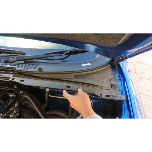 NCロードスターの外気導入口にフィルターをつけるための枠 ver2