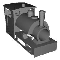 フリーランスサドルタンク機関車(9mmナロー)