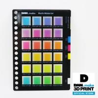 素材サンプル 半透明カラーチャート VE-CMYT-001B