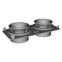 SDR純正エアクリーナーボックス専用クアッドサイクロン(試作中)