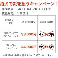 【1/16サイズ】鹿嶋型寅吉狛犬(阿形)