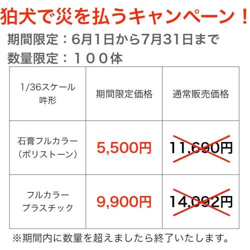 【1/36サイズ】鹿嶋型寅吉狛犬(吽形)