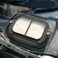 NDロードスターの外気導入口にフィルターをつけるための枠