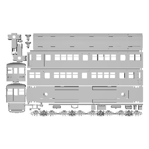 TKK 3850形 更新車(横浜製作所タイプ) Nゲージボディ未塗装組立キット【トレーラー車】
