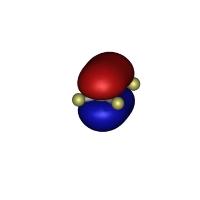 エチレンのHOMO軌道(1億倍)