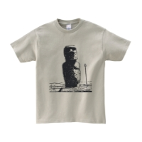 モアイTシャツ S シルバーグレー
