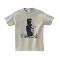 モアイTシャツ M シルバーグレー