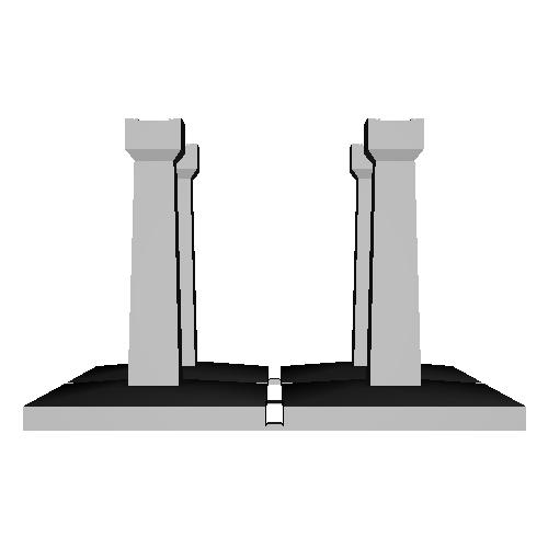向ヶ丘遊園モノレール(Nゲージ)橋脚1_高さ53mm傾斜なし