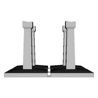 向ヶ丘遊園モノレール(Nゲージ)橋脚2_高さ53mm傾斜つき