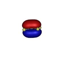 エチレンのHOMO軌道(7000万倍)