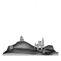 城のあるジオラマ.stlデータ