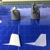 1/72 Fuji T-7改造キット ハセガワT-3改造用v2