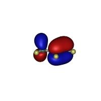 プロピレンのHOMO軌道(1億倍)
