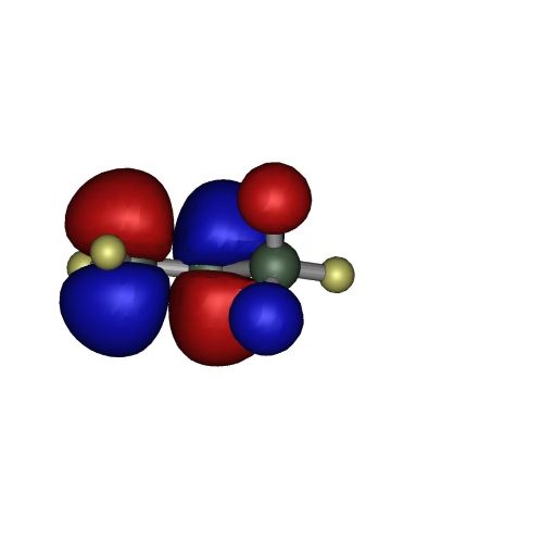 プロピレンのLUMO軌道(1億倍)