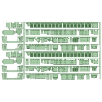 TB65-01:6050系床下機器パーツ2編成セット【武蔵模型工房 Nゲージ 鉄道模型】