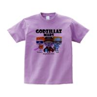 GODZILLAZ-MARS Tシャツ Mサイズ ライトパープル
