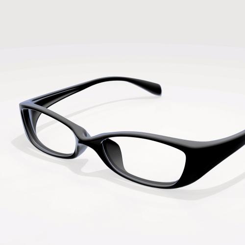 顔に掛けられる眼鏡フレーム