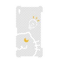 ピコーンねこふくろう Xperia_Z2_SO-03F_透過版ケース