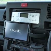 旧型S500系ハイゼット ラジオ下 ゴリラ立て(ACC電源連動)