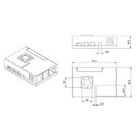 Raspberry Pi 4 専用ケース(25mmファン、VESA用マウント対応)
