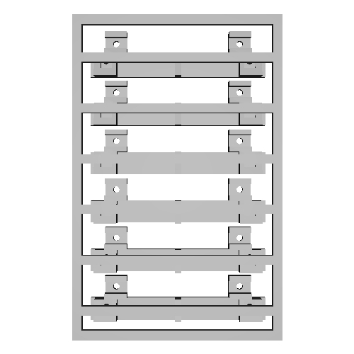 OJゲージ旧国パンタ台・ランボード3基分(1:45)