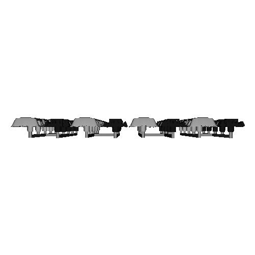 CU-12B クーラー Nゲージ用パーツ4両分20個セット 【OER5000形/5200形ほか】