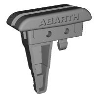 NDロードスター,Abarth 124スパイダー用アクリルウィンドブロッカーベースL,ロゴ有り