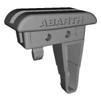 NDロードスター,Abarth 124スパイダー用アクリルウィンドブロッカーベースR,ロゴ有り