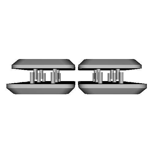 薙刀式3Dキーキャップ【choc】【標準ピッチ】【バラ】平10個