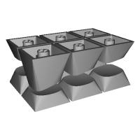 3D キーキャップの2行目