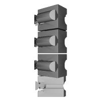 組木屋7ピースジグソーパズル・パープル(全ピース)
