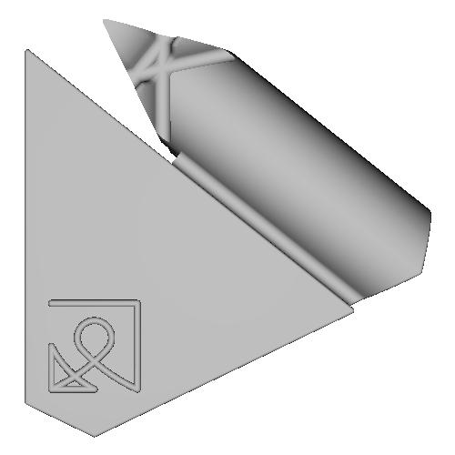 組木屋7ピースジグソーパズル・パープル(奇数ピース)