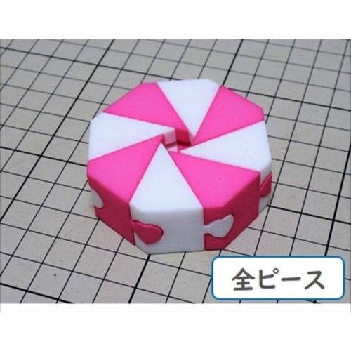 組木屋8ピースジグソーパズル・ピンク(全ピース)