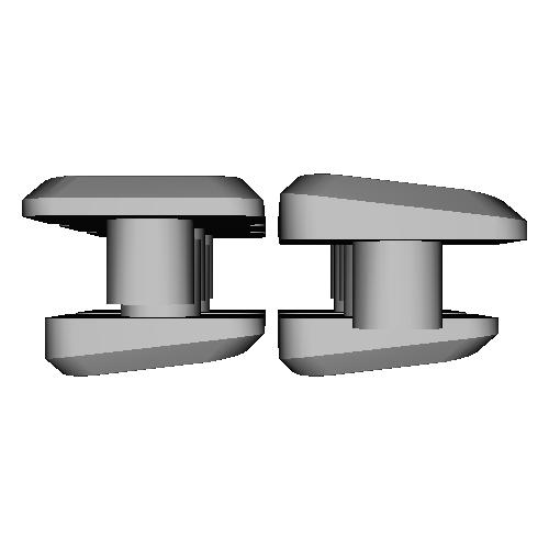 薙刀式3Dキーキャップ【MX】【狭ピッチ16mm用】平5個+坂5個セット