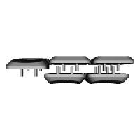 薙刀式3Dキーキャップ【choc】【狭ピッチ16mm用】平5個+坂5個セット