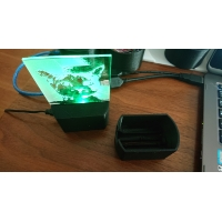 Acrylic LED illumination stand