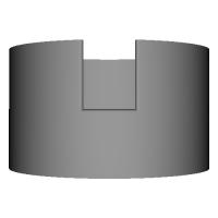 Acrylic LED illumination stand Cylinder