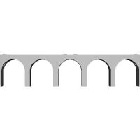 Nゲージ 単線アーチ橋1(280mm)