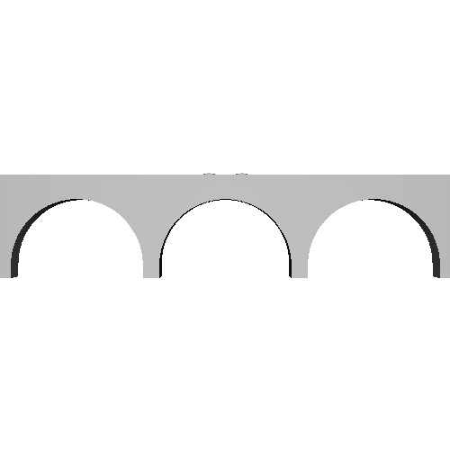 Nゲージ 単線アーチ橋2(280mm)