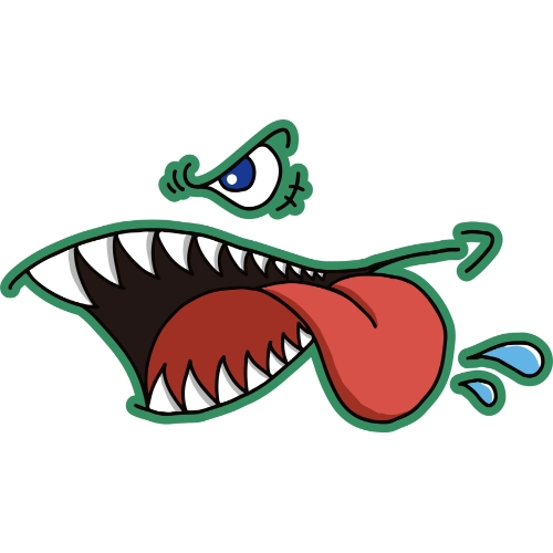 Glutonny Sharkmouth Sホワイト