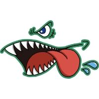 Glutonny Sharkmouth Lホワイト