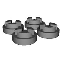 ミニッツ4x4 ホイールスペーサー 2mm
